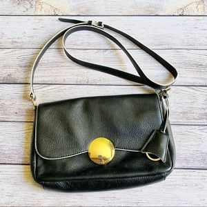 Isaac Mizrahi Leather Crossbody Bag